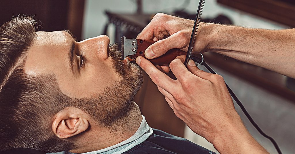 men's hair cut mississauga beard shaping colour